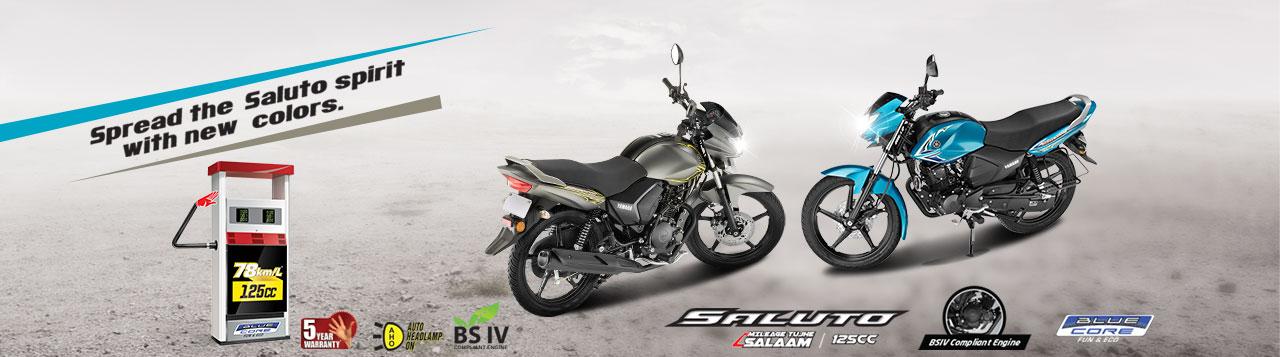 Yamaha Saluto Banner, Yamaha bike